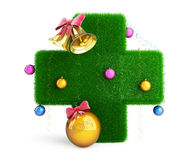 Medical Cross Christmas Tree Royalty Free Stock Images