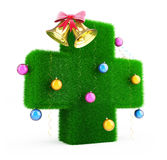 Medical Cross ChristmasTree. Medical Cross Christmas Tree on a white background Royalty Free Stock Photos