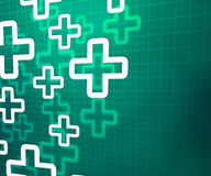 Medical Cross Green Background Stock Photos