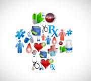 Medical cross icons concept illustration Royalty Free Stock Image