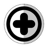 Medical cross isolated icon. Vector illustration design Royalty Free Stock Photos