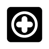 Medical cross isolated icon. Vector illustration design Royalty Free Stock Images