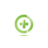 Medical cross line icon . Royalty Free Stock Image