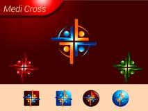 Medical Cross logo Collection Royalty Free Stock Photos