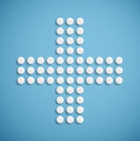 Medical cross from pills Royalty Free Stock Image