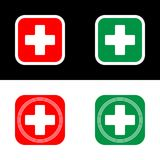 Medical cross, vector icon of medical cross. Flat illustration Stock Photography