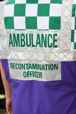 A medical decontamination officer Stock Images