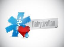 medical dehydration sign illustration royalty free illustration