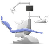 Medical dental arm-chair vector illustration Royalty Free Stock Images