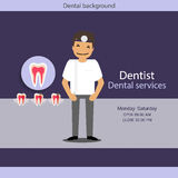 Medical dental background design. Dentist with teeth. Vector ill Royalty Free Stock Photo
