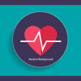 Medical dental background design with heart beat. Vector illustr Royalty Free Stock Image