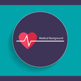 Medical dental background design with heart beat. Vector illustr Royalty Free Stock Photography