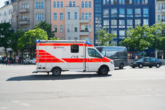 Medical Department service car. Berlin, Germany -May 31, 2017: medical Department service car. 112 is the single European emergency number that can be dialed royalty free stock photography