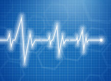 Medical Design - Cardiogram Stock Image