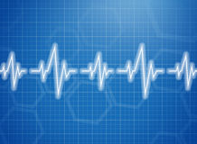 Medical design -  cardiogram Royalty Free Stock Images