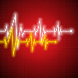 Medical design -  cardiogram Royalty Free Stock Photography