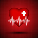 Medical design - heart cardiogram Royalty Free Stock Photography