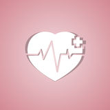 Medical design - heart cardiogram Royalty Free Stock Photo