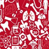 Medical design. Over red  background vector illustration Stock Images