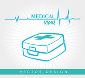 Medical design. Over  white background vector illustration Stock Photography