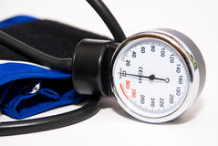 Medical device. For measuring blood pressure, close-up, on a white background royalty free stock photography