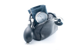 The medical device for blood pressure measurement Royalty Free Stock Photography
