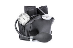 The medical device for blood pressure measurement Stock Images