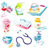 Medical device icon. Illustration with a variety of medical Vector Illustration
