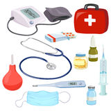 Medical devices, doctors instruments,  Royalty Free Stock Photography