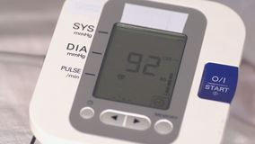 Medical devices. Electronic pressure gauge during operation.  stock video footage