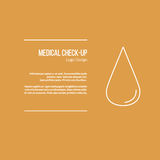 Medical diagnostic, checkup graphic design concept Royalty Free Stock Photography