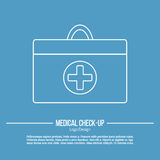 Medical diagnostic, checkup graphic design concept Stock Images