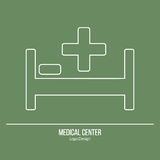 Medical diagnostic, checkup graphic design concept Stock Image