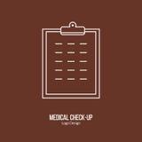 Medical diagnostic, checkup graphic design concept Stock Images