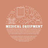 Medical diagnostic, checkup graphic design concept Royalty Free Stock Photo