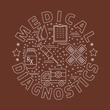 Medical diagnostic, checkup graphic design concept Royalty Free Stock Image