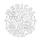 Medical diagnostic, checkup graphic design concept Royalty Free Stock Images