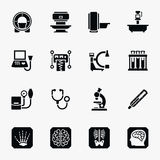 Medical diagnostic vector icons set Royalty Free Stock Photo