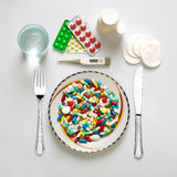 Medical dinner set Stock Image