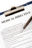 Medical directive document. In a clipboard Stock Photography