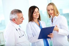 Medical discussion Royalty Free Stock Photos