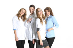 Medical doctor and beautiful nurse Royalty Free Stock Photo