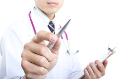 Medical doctor checking your healthy concept Royalty Free Stock Photos