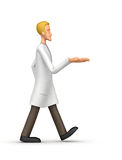 Medical doctor  comes with outstretched arm Stock Image