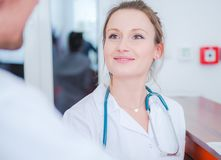 Medical Doctor Conversation Stock Photography