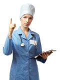 Medical doctor with folder Stock Photo