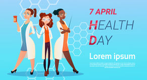 Medical Doctor Group World Health Day 7 April Global Holiday Concept Royalty Free Stock Photo