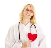 Medical doctor with heart Royalty Free Stock Image