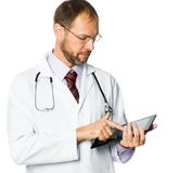 Medical doctor holding a tablet pc Stock Photo