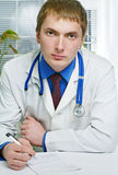 A  medical doctor in hospital Royalty Free Stock Photos